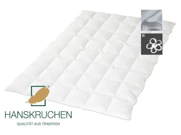 Daunen-Bettdecke Diamant (leicht) von HANSKRUCHEN-0