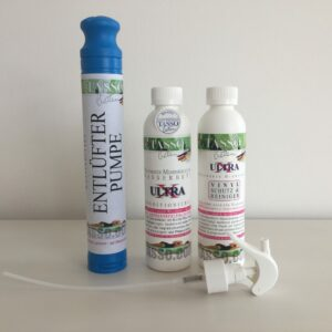 Tasso Ultra X Konditionierer 1 x 240 ml (70.83€ / l)Tasso Ultra X Vinylreiniger 1x 240 ml (70.83€ / l) 1 x Tasso Entlüfterpumpe-0