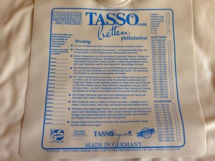 Tasso Matratze Wasserkern - SoftSide Uno-0